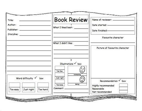 Kids Book Review Template