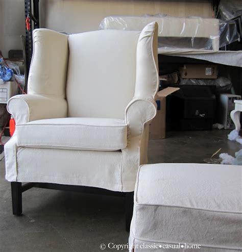 wingback chair slipcover idea loft lovin