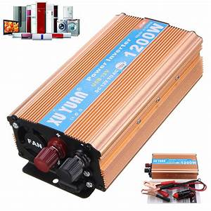 Xuyuan Dc 12v To Ac 110v Auto Car 1200w Power Inverter