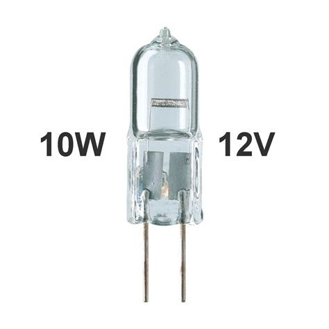 1 00 10w halogen g4 bi pin bulb 12v low voltage