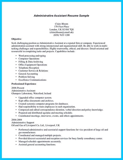 I Resume You by In Writing Entry Level Administrative Assistant Resume