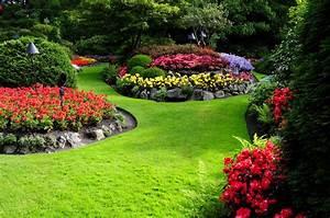 Nature Flowers Garden Landscape Wallpapers Hd Desktop And ...