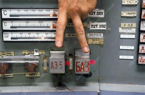 chernobyl reactor  control room stock image