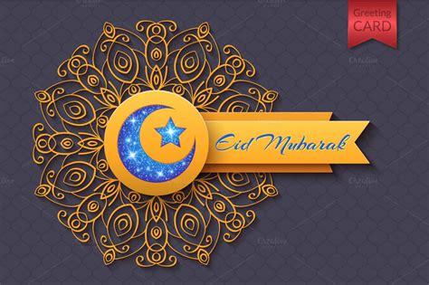 eid mubarak abstract greeting card eid  eid
