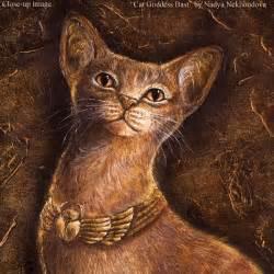 cat god cat goddess bast canvas print reproduction of