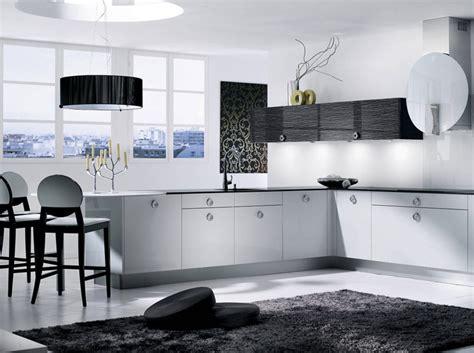 tres cuisine noir et blanc habillent la cuisine décoration