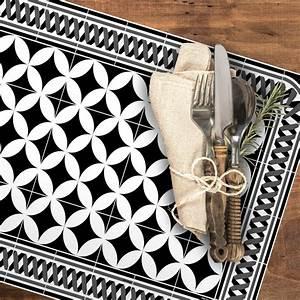 Set De Table Carreaux Ciment : set de table carreaux de ciment louison noir 35x50cm ~ Melissatoandfro.com Idées de Décoration