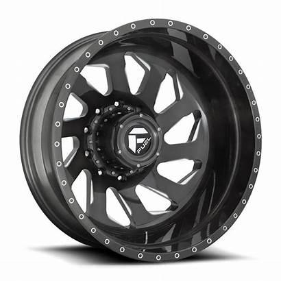 Lug Rear Wheels Dually Fuel Brushed Rims