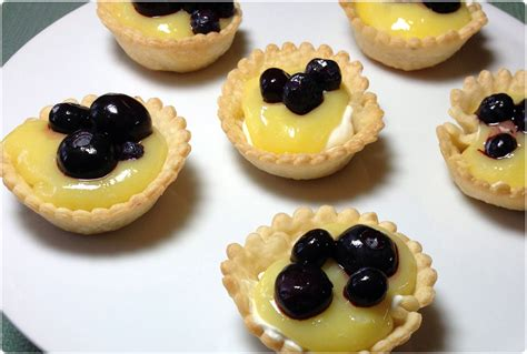 canape desserts blueberry lemon tartlets diary of a humble chef