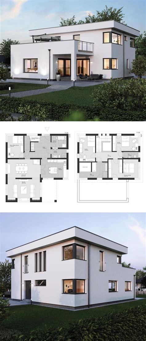 Stadtvilla Modern Mit Anbau by Moderne Stadtvilla Grundriss Mit Flachdach Architektur