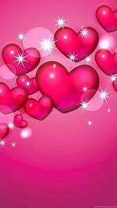 Pink, Hearts, And, Stars, Wallpapers, Desktop, Background