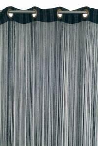 Rideau Fil Noir : rideau de fils teze 110 x 240 cm noir argent castorama ~ Teatrodelosmanantiales.com Idées de Décoration