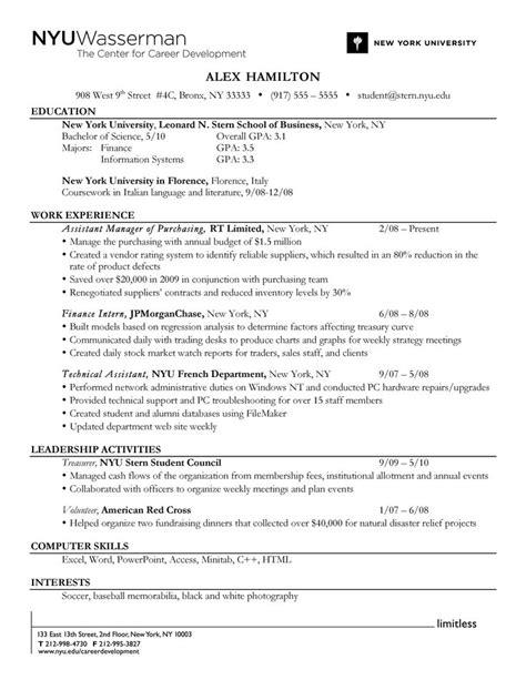 reverse chronological order resume format