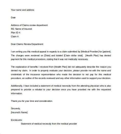 appeal letter templates  sample  format