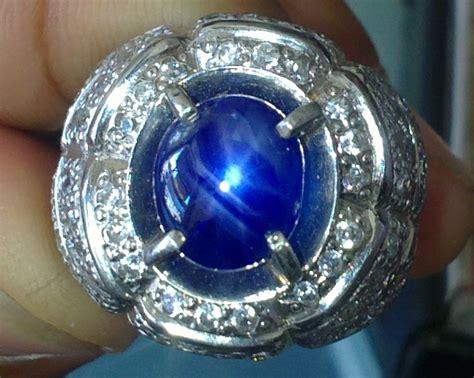 Blue Safir Ster batu permata blue safir birma bintang hitam vs golden