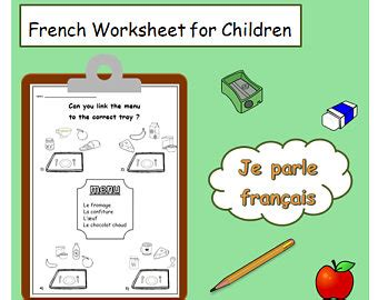 FRENCH LANGUAGE WORKSHEET / printable french words ...