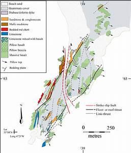 Geological Map Of Llanddwyn Island Showing Principal