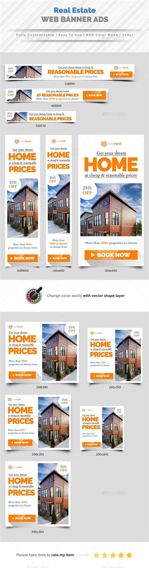 Banners Redes Sociales Template by Real Estate Agency Web Banner Ads Redes Sociales