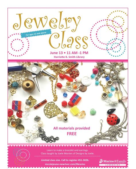 Jewelry Class Flyer Marketing Made For The Jewelry Making