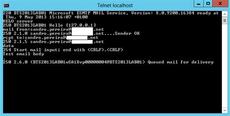 test smtp biztalk 2013 installation and configuration install and