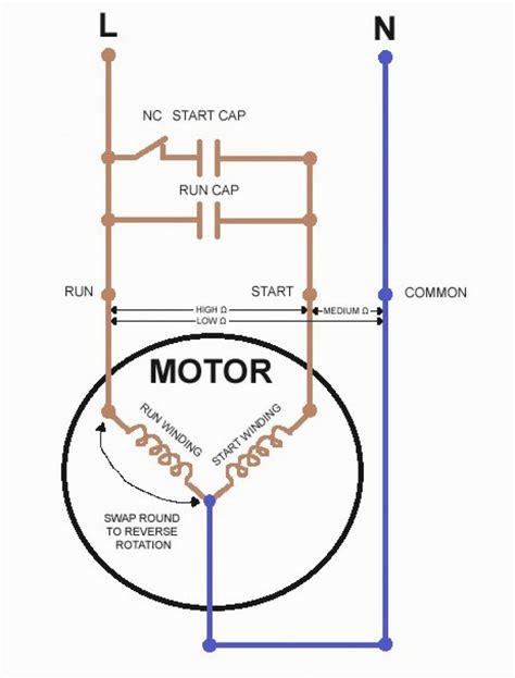 single phase capacitor start capacitor run motor wiring diagram electrical wiring in 2019