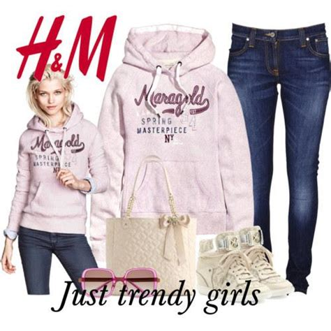 Hu0026M casual outfits in pastel colors u2013 Just Trendy Girls