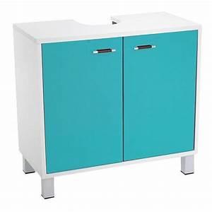 Meuble Dessous De Lavabo : meuble dessous lavabo dinamo bleu meuble de salle de bain eminza ~ Melissatoandfro.com Idées de Décoration