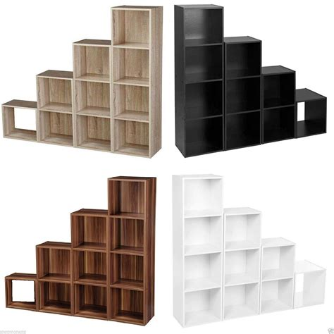 One Shelf Bookcase by 1 2 3 4 Tier Wooden Bookcase Shelving Display Storage Wood