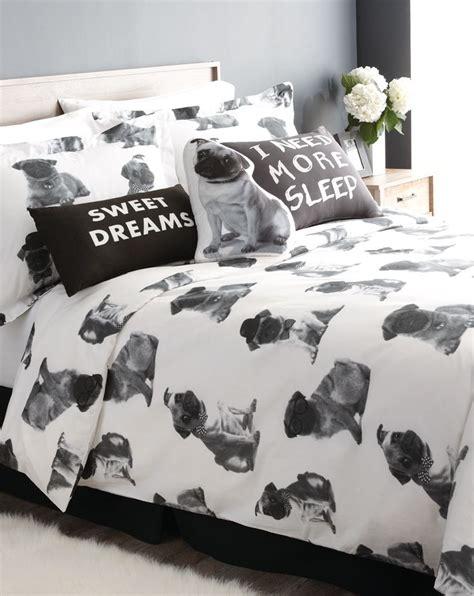 pugs  playful  cuddly    bedding