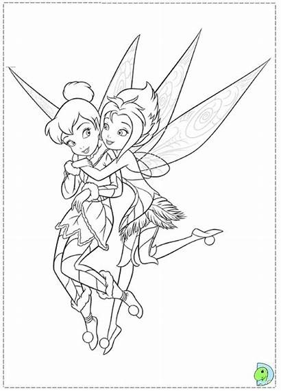 Coloring Tinkerbell Pages Periwinkle Tinker Bell Wings