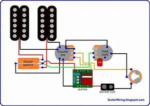 Semi-active Guitar Wiring