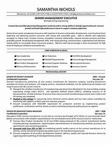 senior management executive manufacturing engineering With examples of senior executive resumes