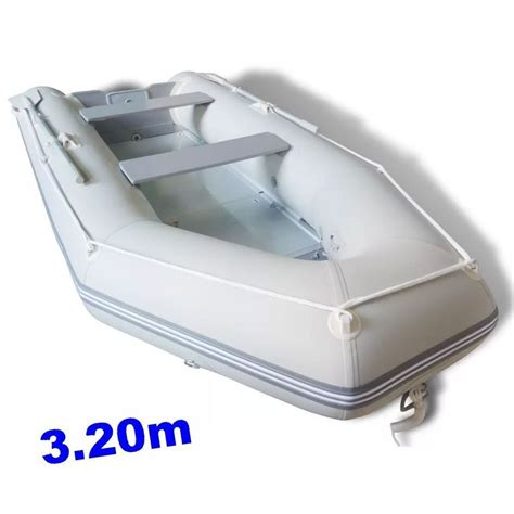 large fishing boat inflatable rib dinghy set raft lake sea