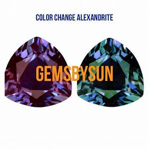 Lab-Created Pulled True Alexandrite Color Change Trillion ...