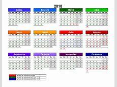 Calendario Biblioteca 2018 Instituto Internacional de