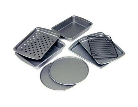 oven toaster pans convection pizza bakeware cookies nonstick piece kitchen