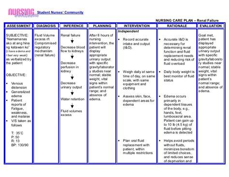 Nursing Cribcom Nursing Care Plan Renal Failure