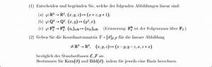 Trefferquote Berechnen : entscheiden und begr nden welche der abbildungen linear sind koordinatenmatrix bzgl ~ Themetempest.com Abrechnung