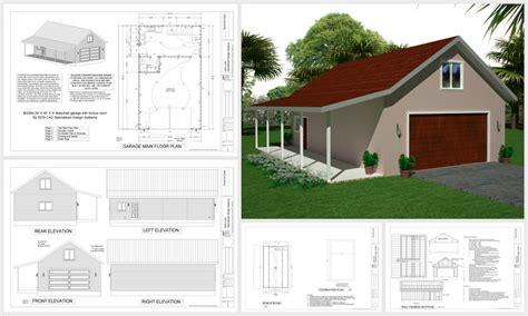 beautiful garage  living quarters plans house