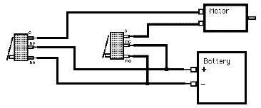 Dc Motor Switch Wiring Diagram by Switches Circuit For A Dc Motor With 2 Microswitches