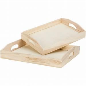 Tablett Aus Holz : tablett set aus holz online kaufen buttinette bastelshop ~ Buech-reservation.com Haus und Dekorationen