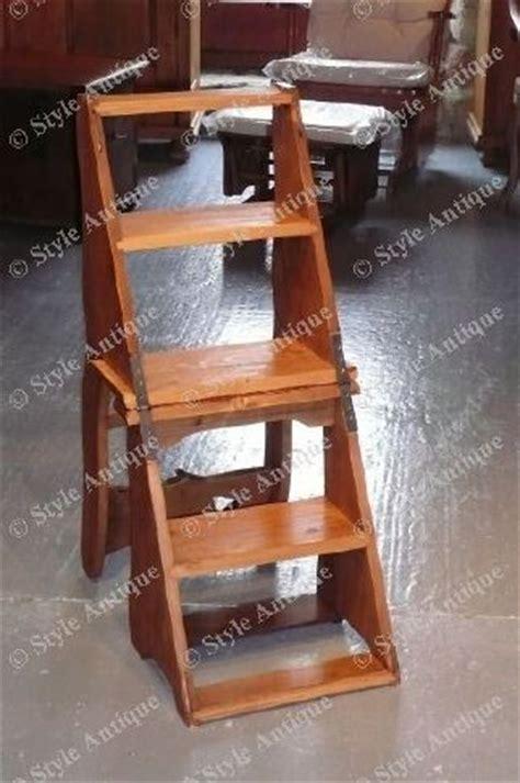 chaise antique en bois chaise escabeau style antique fabrication artisanale