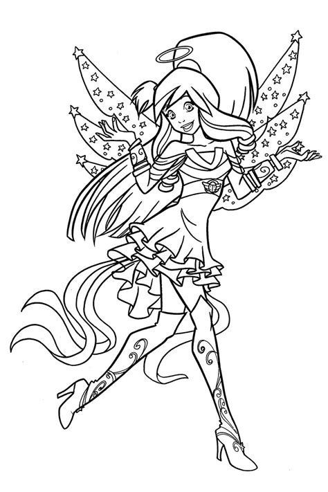 angels friends coloring pages    print