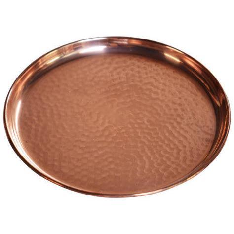 copper kitchen product hammered copper plate manufacturer  moradabad