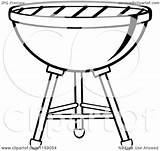 Grill Bbq Charcoal Clipart Cartoon Vector Coloring Royalty Weber Pages Ber Toon Hit Illustration Again Bar Looking Case Don sketch template