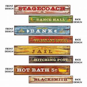 WESTERN WILD WEST THEMED PARTY SUPPLIES PACK OF 4