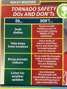Obvious Plant On Twitter   U0026quot Tornado Safety Dos And Don U2019ts U2026