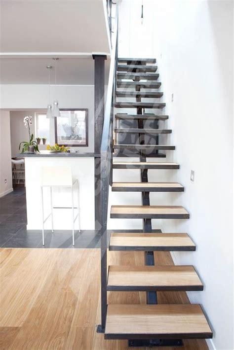escalier design m 233 tal et bois sur limon central marches