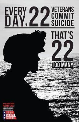 Per Day by Veteran Suicides Per Day 22 Too Many
