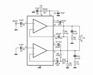 Tda2005 Bridge Amplifier Circuit Diagram